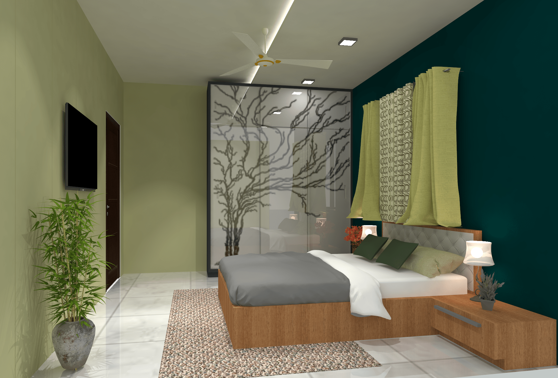 Apartment Bed room Interior Design - V M Park Brahmapur Odisha - Mr.Bichitra Patnaik