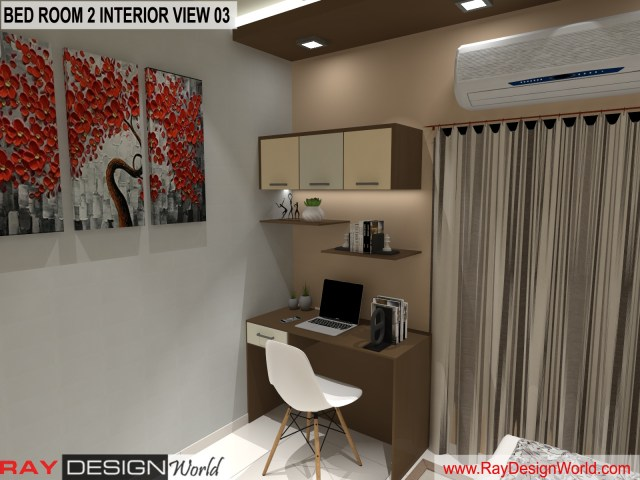 Bed Room 2  Interior Design view 03 - Vadodara Gujarat - Mr.Chirayu Soni