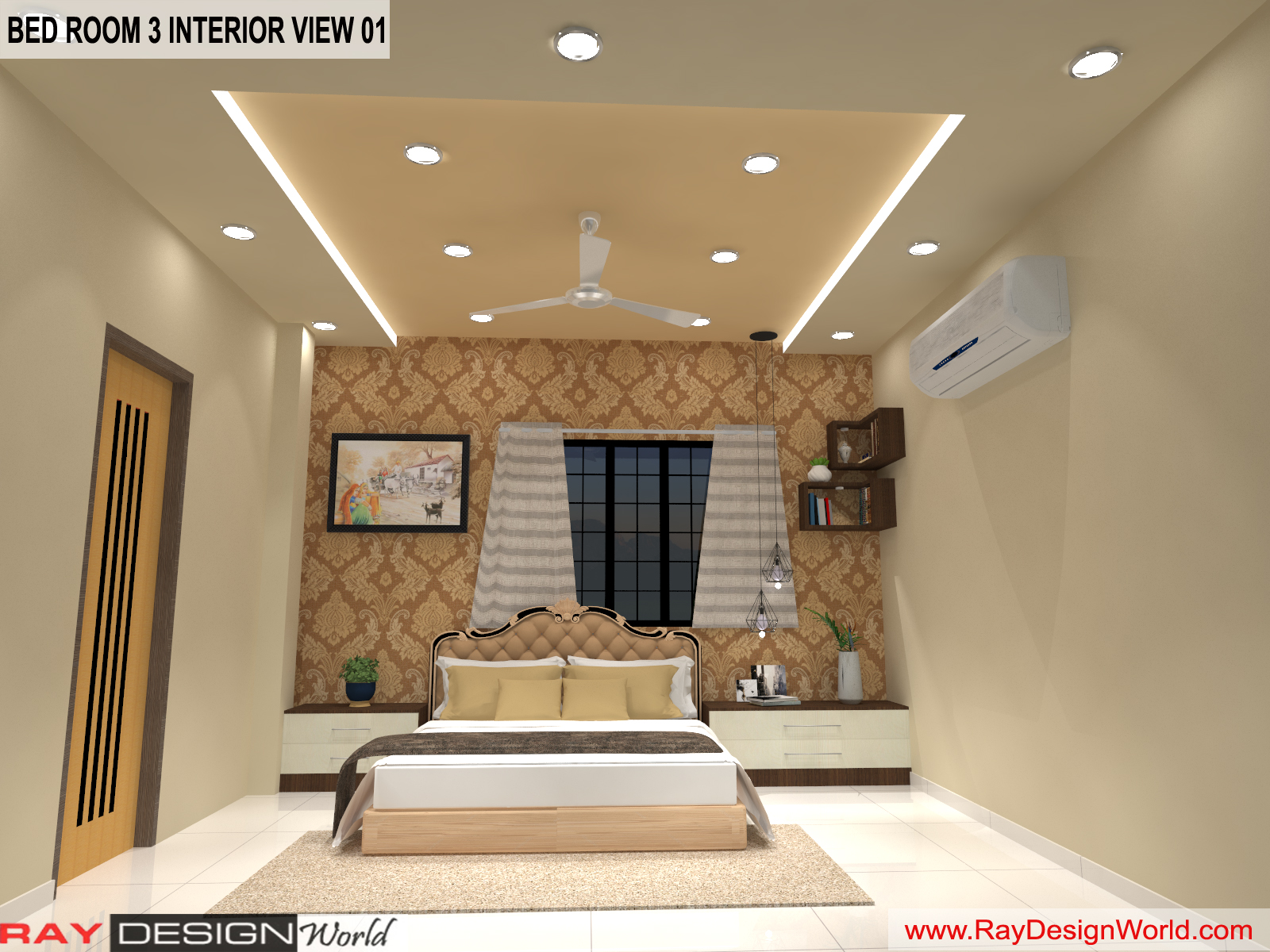 Bed Room 3 Interior Design view 01 - Vadodara Gujarat - Mr.Chirayu Soni