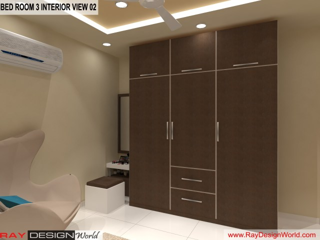 Bed Room 3  Interior Design view 02 - Vadodara Gujarat - Mr.Chirayu Soni