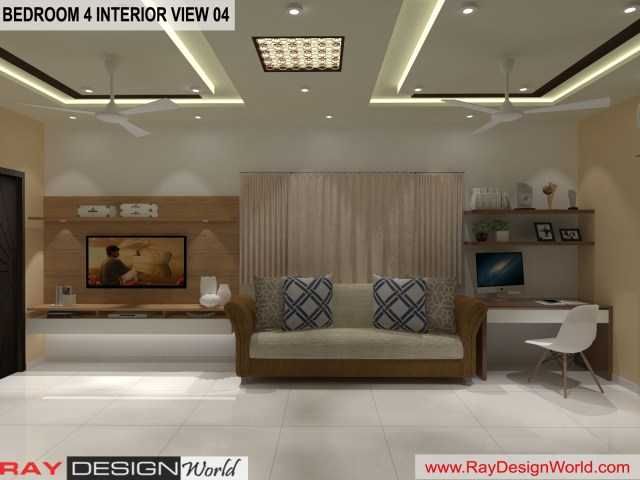 Master Bedroom  Interior Design view 04 - Vadodara Gujarat - Mr.Chirayu Soni