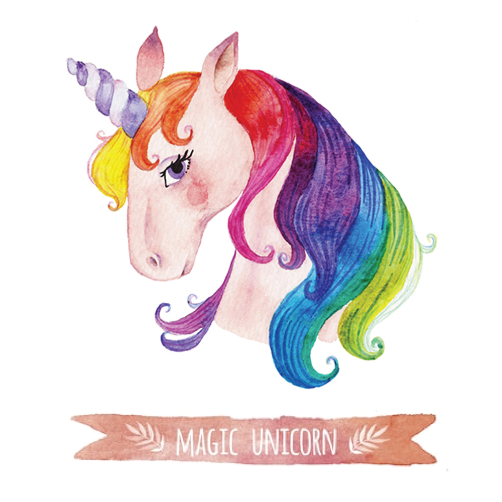 Canvas Print  Jnr  Rainbow Bright Unicorn  60x60