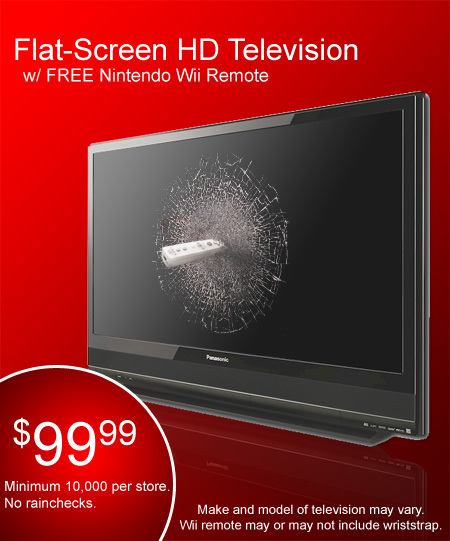 FlatScreen HD TV with Remote  Only 9999  Ray Fowler org
