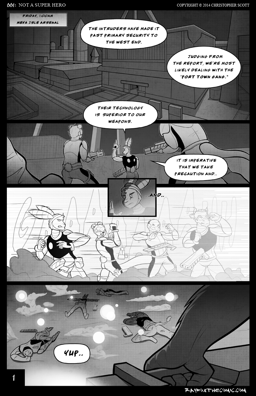 NOT a Super Hero: Page 1