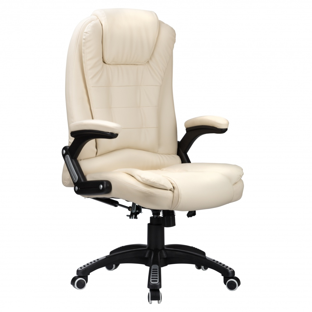 RayGar Luxury Faux Leather High Back Reclining Office