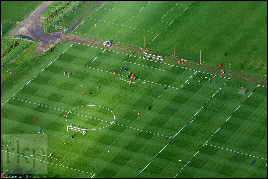 Aerial shot of Carrington Training Complex 3