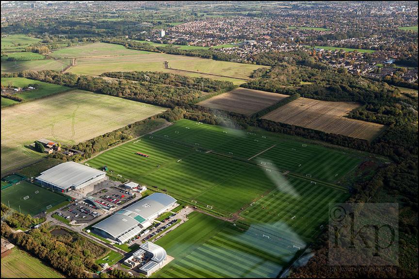 Aerial shot of Carrington Training Complex 4