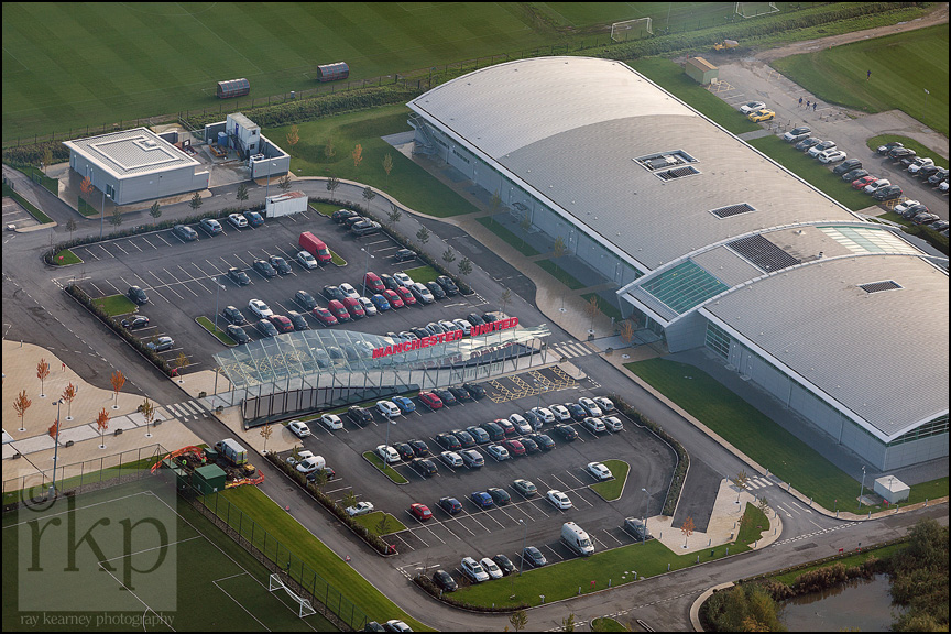 Aerial shot of Carrington Training Complex 5