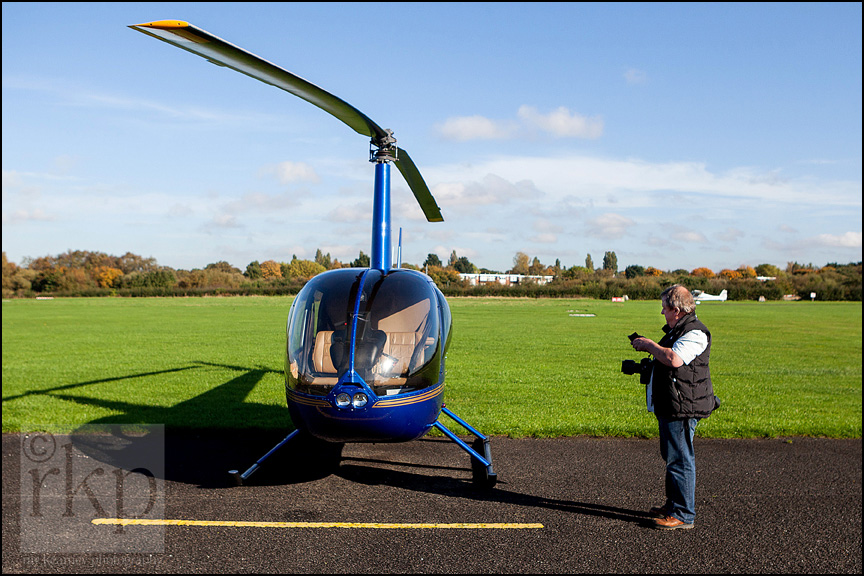 Bernard O' Sullivan preparing for flight over Manchester United's Carrington training complex