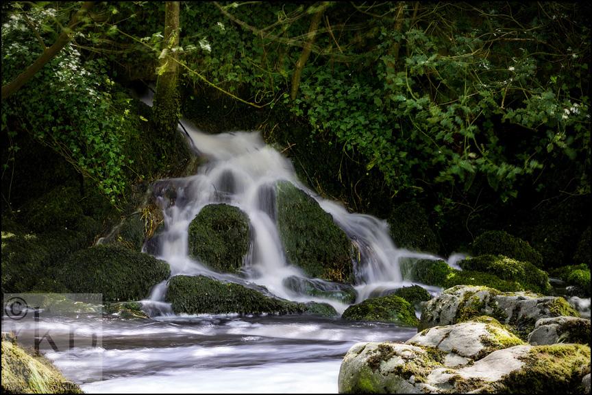 Crumlin Glen waterfall down stream