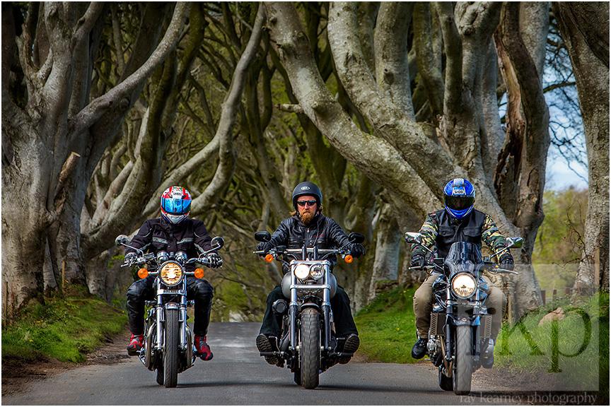 Dark Hedges bikers 008