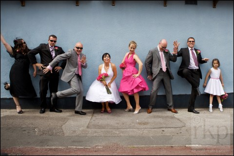 Bridal party at Sale Town Hall