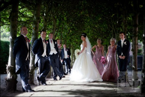 Bridal party at Thornton Manor