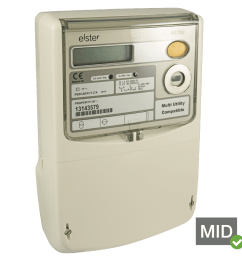 elster a1700 mid certified three phase polyphase meter  [ 1000 x 1000 Pixel ]