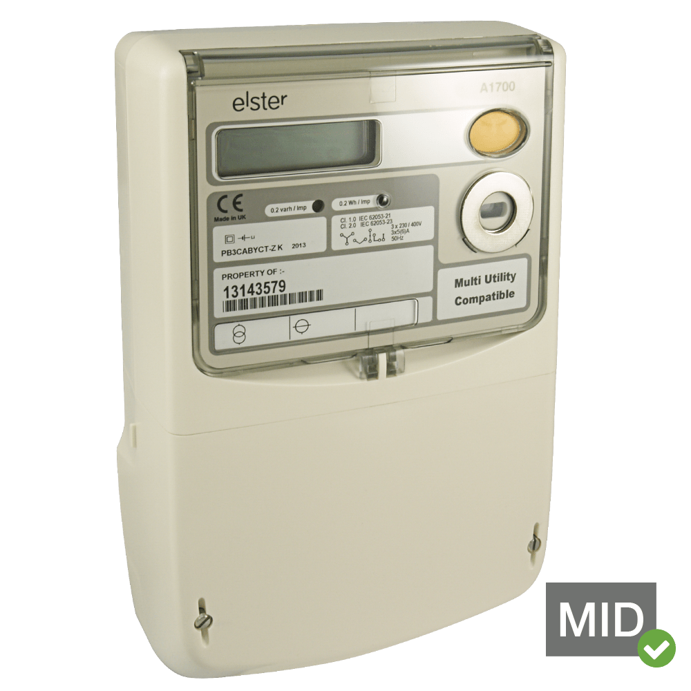 hight resolution of elster a1700 mid certified three phase polyphase meter
