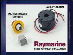 Raymarine installatie ST1000 alarm en afstandsbediening monteren