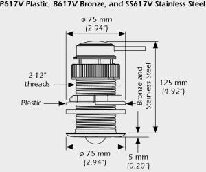 Raymarine A22111 DST800 afmetingen DST smart triducer