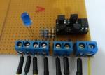 Acculader schakel printplaat FET 1n7000 relais optocoupler ONJ