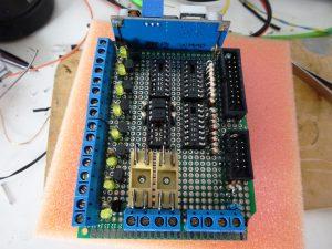Arduino PCB flatcable connectoren