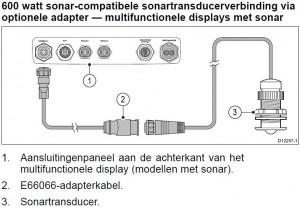 Raymarine c127 e127 transducer fishfinder E66066