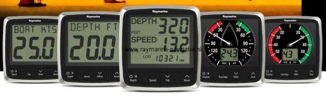 Nieuwe Raymarine i60 en i50 instrumenten overzicht