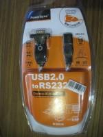 USB2.0 naar RS232 met vaste USB-A verlengkabel PowerSync pakket
