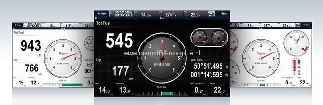 Volvo Penta motor aansluiten op Raymarine plotter