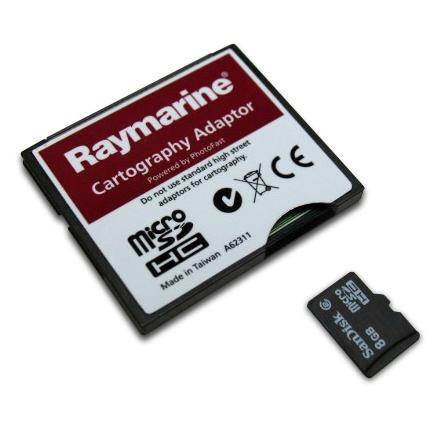 Raymarine compactflash CF naar micro-sd adapter A62311