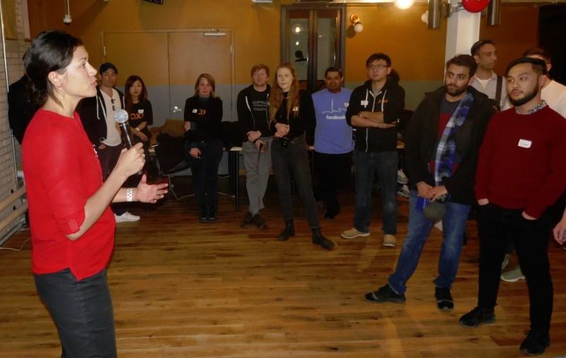 Sharon from North Eastern University spoke at HackerNest 2018