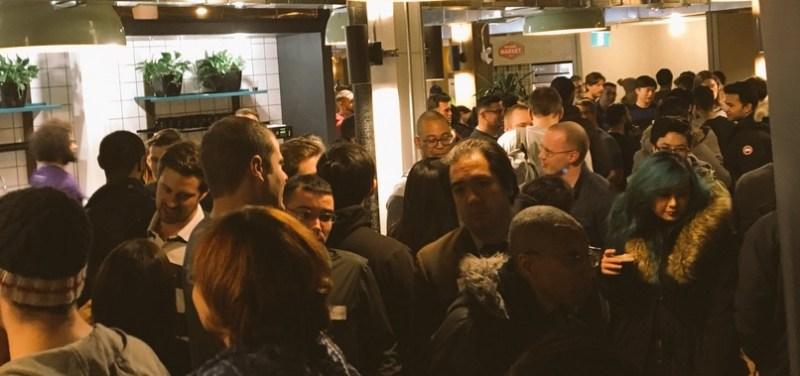 big crowd at Hackernest in Toronto