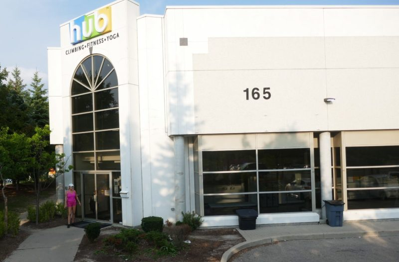 Raymi outside Hub Climbing at 165 McIntosh in Markham Ontario