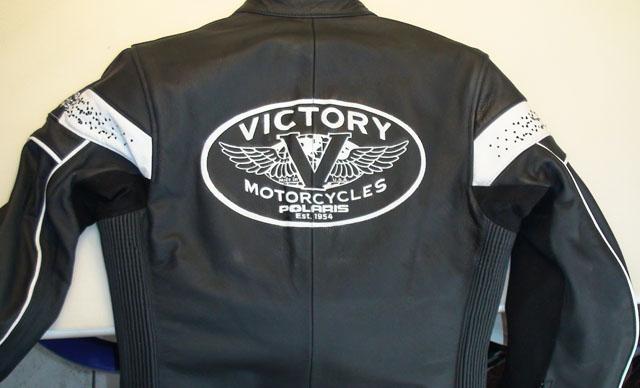 Blouson cuir Victory motorcycle Polaris 1954  Raymond Planchat peintre arographe cours de