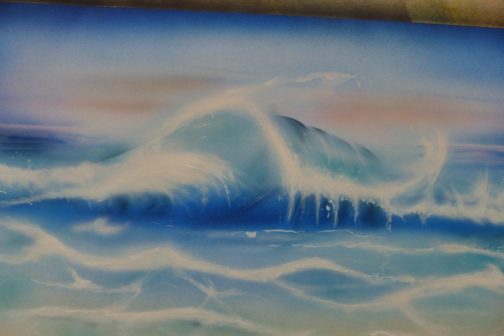 effet vagues ciel nuages  Raymond Planchat peintre arographe cours de peinture vente
