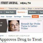WSJ Lupus Drug Headline