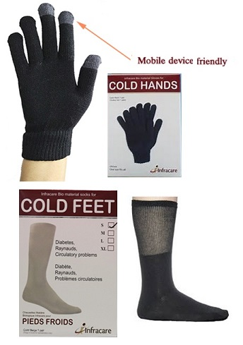 Infracare Glove Liners and Socks