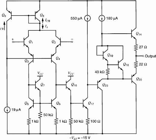 681 The dc Analysis of the 741 Operational Amplifier