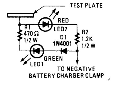 Battery Charger Probe Schematic Diagram to Prevent Battery