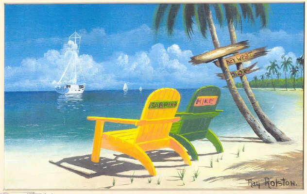 key west chairs big joe roma bean bag chair reviews island prints by ray rolston beach