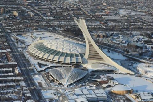 Photo aérienne du Stade olympique, le lundi 5 mars 2012, à Montréal. MAXIME LANDRY/TVA NOUVELLES/AGENCE QMI