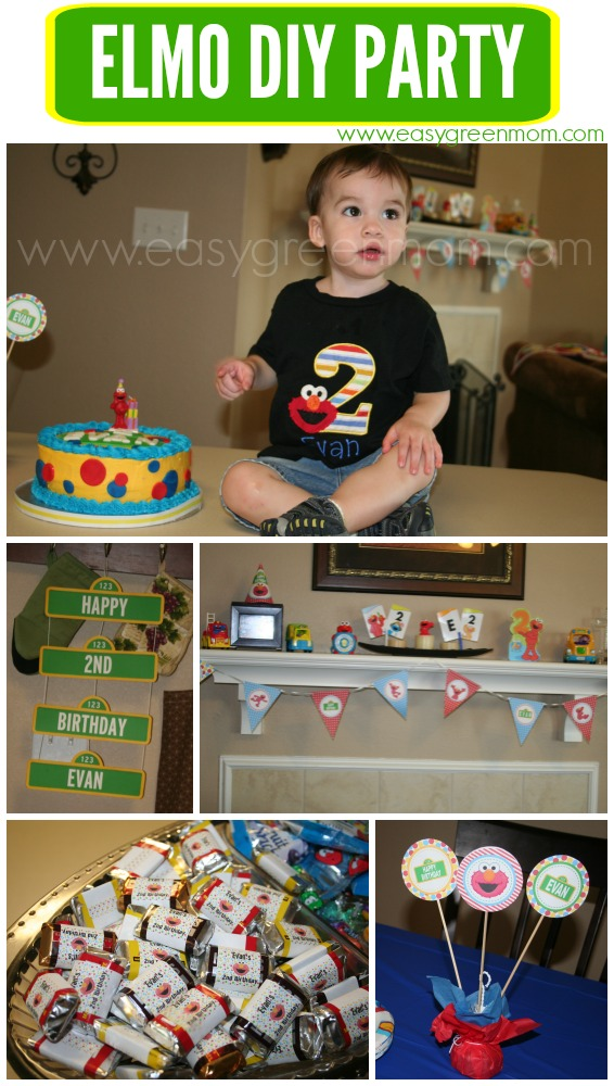 Swell Diy Elmo Party Ideas With Free Printables From Rays Of Bliss Funny Birthday Cards Online Bapapcheapnameinfo