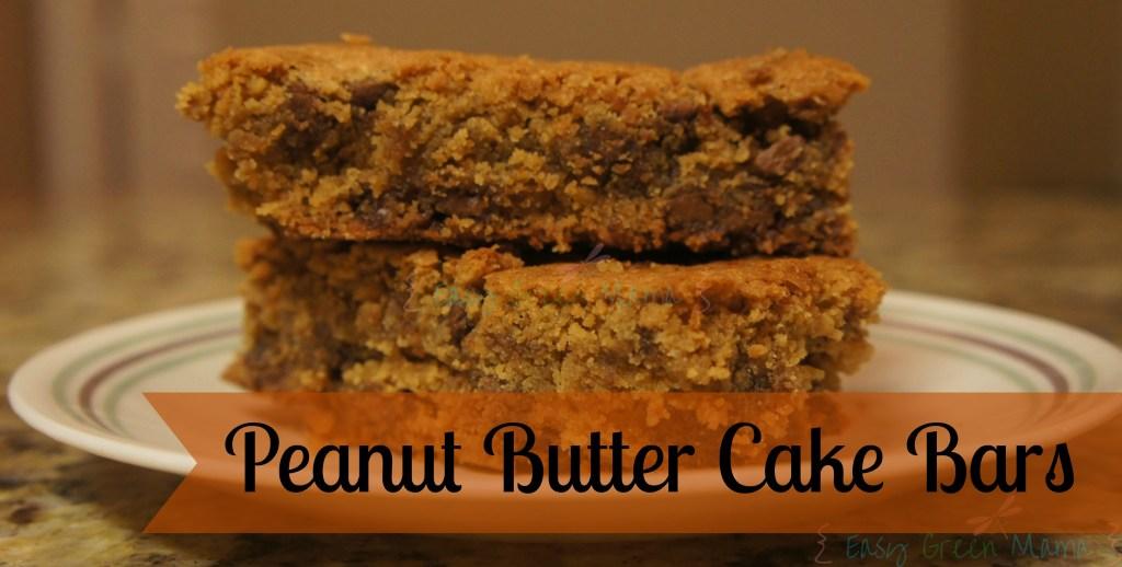GF Peanut Butter Cake Bars