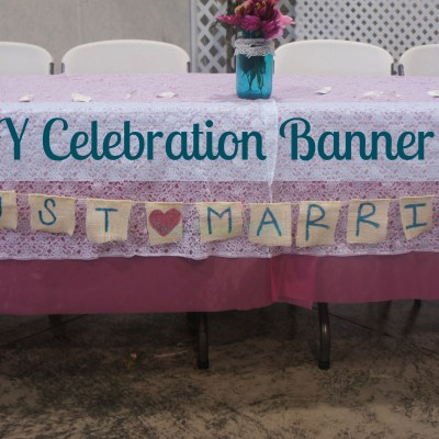 DIY Just Married Celebration Banner