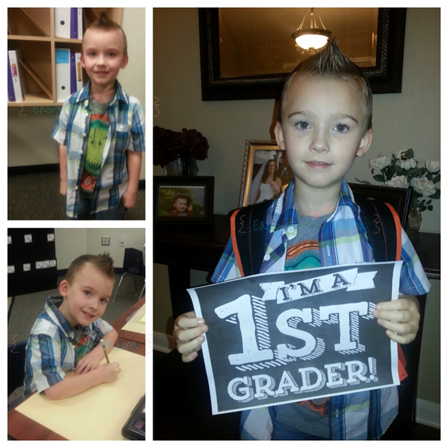 First Day 1st Grader