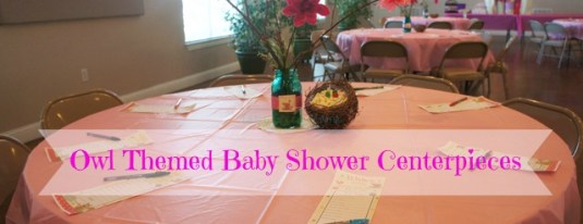 Owl Themed Baby Shower Tables