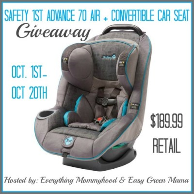 Free Blogger Opp: Safety 1st Advance 70 Air + Convertible Car Seat Giveaway