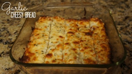 Garlic Cheesy Bread Gluten Free made with Bob's Red Mill Pizza Crust Mix