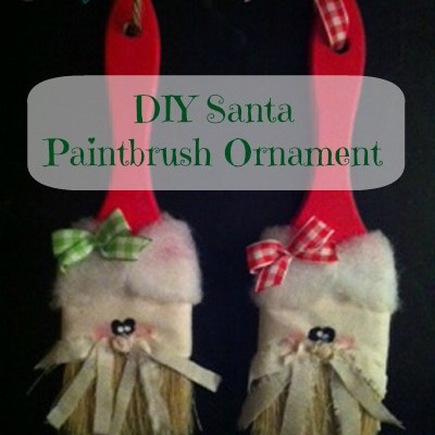 DIY Super Cute Santa Paintbrush Ornament