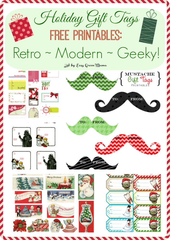 Holiday Gift Tags Free Printables Retro ~ Modern ~ Geeky!