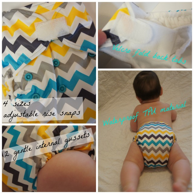 Rumparooz One Size Cloth Diaper features