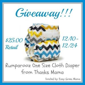 Rumparooz One Size Cloth Diaper from Thanks Mama Giveaway